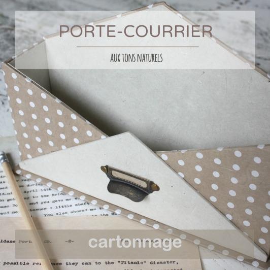 PORTE-COURRIER image carrée L'ATELIER DE FRAMBOISE CHOCOLAT